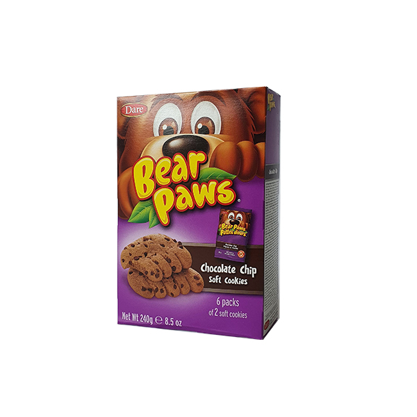 Galletas Bearpaws Choc Chips 240g
