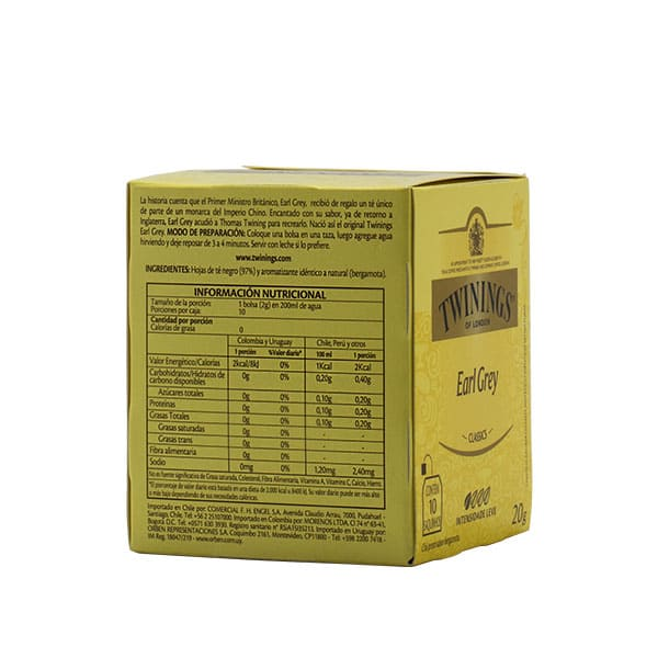 Té Twinings Earl Grey 20 g